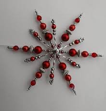4756 best ornaments images on beaded snowflake beaded