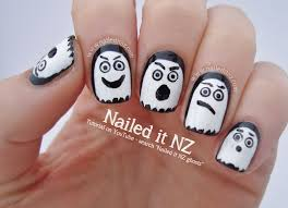 halloween ghosts nail art tutorial