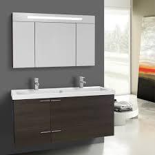 47 Bathroom Vanity 47 Inch Grey Oak Bathroom Vanity Set Double Sink Lighted