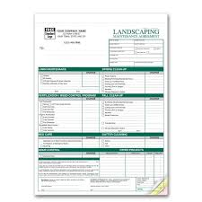 landscaping invoice  work order  designsnprint with landscaping maintenance agreements from designsnprintcom