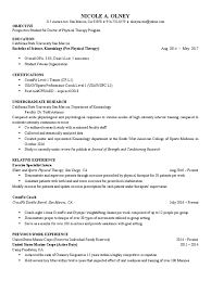 resume olneyna physical therapy united states marine corps