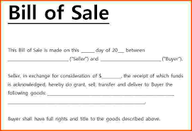 11 bill of sale template word survey template words