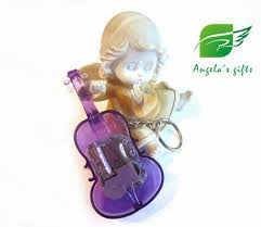 Music Box Keychain Violin Keyrings Music Box 18 Notes Wind Up Music Box Keychain