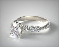 circle engagement ring common prong six diamond engagement ring 14k white gold