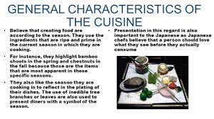 cuisine characteristics japanese cuisine ppt