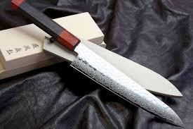 Sharpening Japanese Kitchen Knives Yoshihiro Vg 10 46 Layers Hammered Damascus Gyuto Japanese Chefs