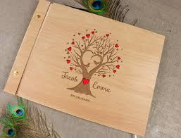 laser cut wood invitations 50 sheets wooden wedding guest book laser cut tree guestbook laser