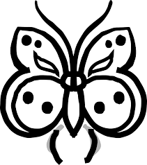 butterfly 30 black white line art coloring sheet colouring page