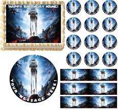 wars edible cake toppers wars battlefront edible cake topper image frosting sheet cake