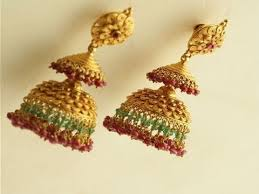 kerala earrings kerala style gold jimiki models yellow gold jhumka earring