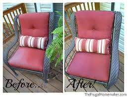 Where To Buy Upholstery Fabric Spray Paint Faded Chair Cushions Refreshed With Spray Paint