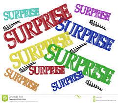 surprise party birthday invitation stock photos image 10567333