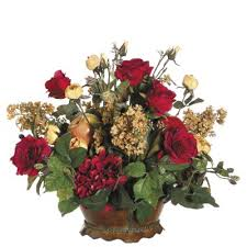 fruit floral arrangements hydrangeas mixed fruits silk floral arrangement arwf2703 85