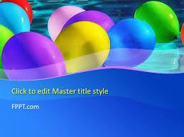 free balloons balloons powerpoint templates