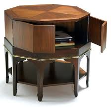 End Table Storage Storage End Table Iron Wood