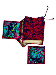 Home Interior Online Shopping India Glow Wonder Fabric Reversible Coaster Gift Set Pinklay