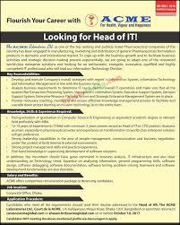 Resume Job Location by The Acme Laboratories Ltd In Job Circular