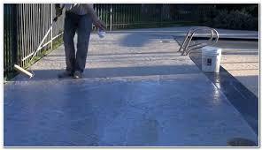 paint or stain concrete pool deck decks home decorating ideas