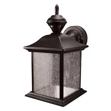 Home Depot Outdoor Post Lighting by Heath Zenith City Carriage 150 Degree Black Outdoor Motion Sensing
