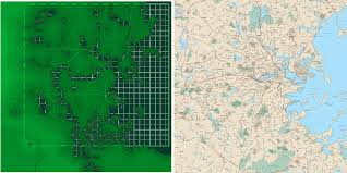 Map Of Fallout 3 by Real Boston Overlayed With Fallout 4 U0027s Boston Fallout