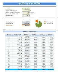 Excel Payment Calculator Template Balloon Loan Payment Calculator Excel Templates