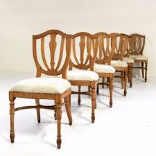 Maple Dining Chair Vintage Maple Dining Chairs In Brazilian Ivory Cowhide Set Of 6