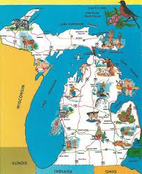 Ann Arbor Michigan Map by Vintage Michigan History Heritage Travel U0026 Tourism Great P U2026 Flickr