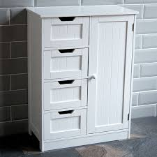 White Bathroom Storage Cabinet With Drawer Floor Bathroom Cabinet Wayfair Living