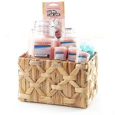 candle gift baskets yankee candle gift basket