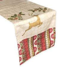 bed bath and beyond christmas table linens buy christmas table runners linen from bed bath beyond