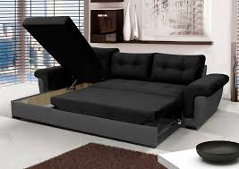 Leather Sofa Bed With Storage Leather Corner Sofa Bed Ebay