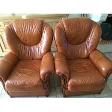 canape en cuir marron canape cuir marron et 2 fauteuil achat et vente priceminister