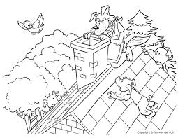 big bad wolf climbing chimney pigs