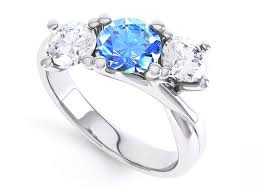 engagement rings with a blue sapphire topaz aquamarine - Engagement Rings With Blue Stones