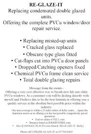 Double Pane Window Repair Glazier Hatton Re Glaze It Replacing Misted Glazing Derby