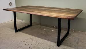 Modern Industrial Desk by Black Walnut Modern Industrial Table Ks Woodcraft