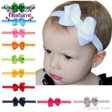 baby girl bows nishine 3 2inch baby elastic headbands soft ribbon bow headband