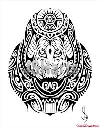 tribal tiger climbing design viewer com