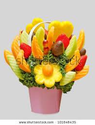 fruit flower basket assortment fresh fruit fruit basket resembling stock photo