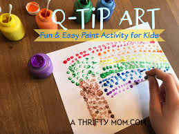 is paint any q tip painting activity for a thrifty