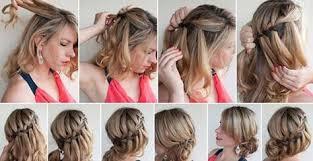 Hochsteckfrisurenen Zum Selber Machen F Schulterlanges Haar by 25 Beste Ideeën Einfache Frisuren Selber Machen