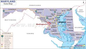 map of maryland with cities state map