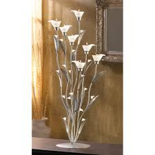 wholesale large silver tone art nouveau calla lily sculpture