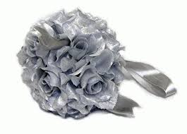 silver roses petal balls for party wedding decorations
