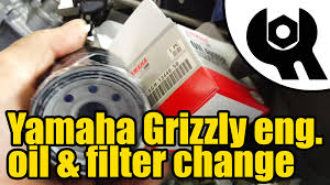 1807 yamaha grizzly 450 engine oil u0026 filter change youtube