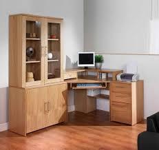 Real Wood Corner Desk Corner Study Table With Bookshelf Wooden Square File Cabinet White