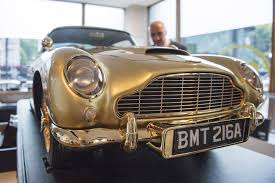 50th anniversary gold plate gold plated aston martin created to 50th anniversary of