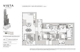 2 bedroom floorplans luxury 2 bedroom condos vista tower