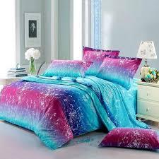 Blue Full Comforter Neon Teen Girls Bedding Forest Scene Full Size Bright Color