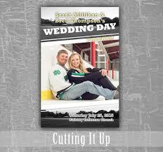 magazine wedding programs sports wedding program hockey theme favor football themed
